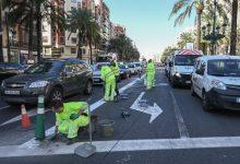 Ya se ha procedido a la segregación del carril EMT-Taxi de Germanies