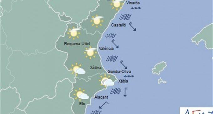 La setmana comença amb nuvolositat alta i temperatures amb poc canvis i amb forts vents en el nord de Castelló