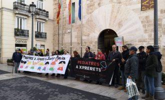 Una concentració en Corts exigeix la restitució de pediatres en Xiprerets, Manises