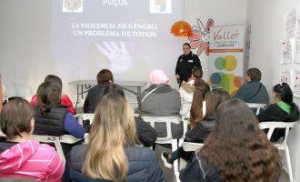 Xerrada de prevenció de violència de gènere en el Vallet, Puçol
