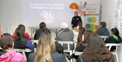 Charla de prevención de violencia de género en el Vallet, Puçol