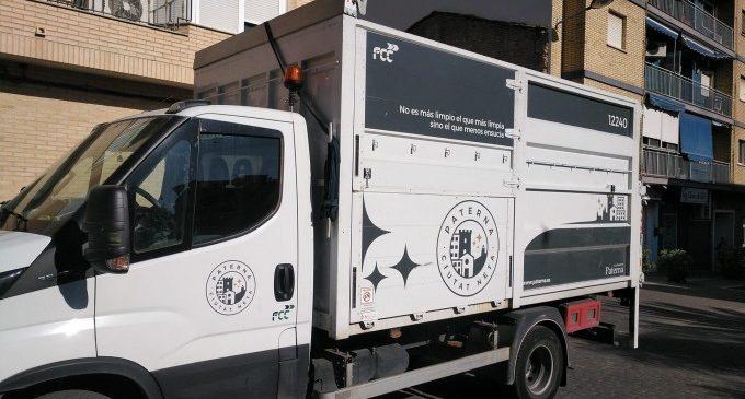 El servicio de recogida de muebles y enseres de Paterna aumenta un 9%