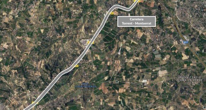 La carretera de Torrent a Montserrat tindrà un altre carril més