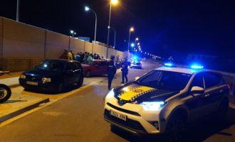 La Policia Local d'Alzira posa fi a una carrera il·legal al Pla