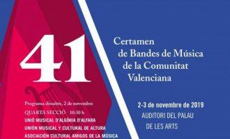 Onze bandes de música en el 41 Certamen de la Comunitat al Palau de les Arts