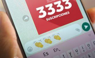 """""""Massapp"""", el servei de WhatsApp de Massamagrell, aconsegueix els 3333 subscriptors"""