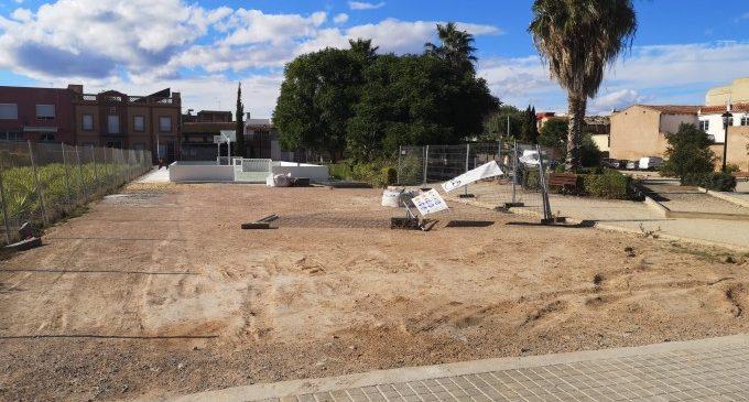 Se amplía la zona de juegos del Parque Juan Bautista Pastor de Borbotó