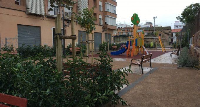 Finalitzen les obres del nou jardí Joan Reus parra al poble Valencià de la torre