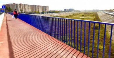 Fomento elevará la barandilla del puente entre Xirivella y Avenida del Cid para enero