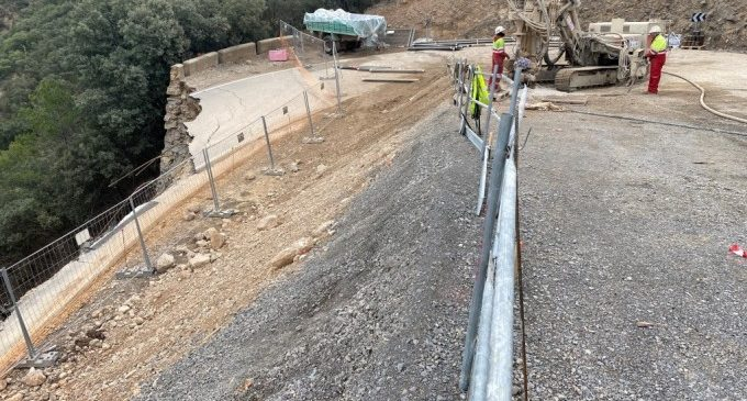 La Diputació finalitzarà abans d'estiu les obres de la carretera entre Losilla i La Puebla de San Miguel