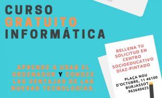 Nuevos cursos gratuitos de alfabetización informática en Burjassot