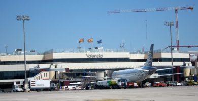 El temporal obliga a desviar doce vuelos con destino Valencia