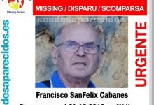 El cadáver hallado cerca de Xàtiva es el del anciano con alzhéimer que desapareció en Nochebuena