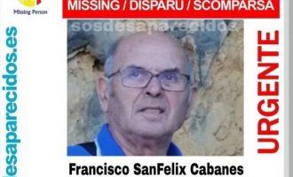 Perros especialistas buscan al anciano con alzheimer desaparecido en Nochebuena en Xàtiva