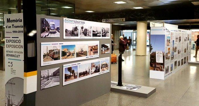 La estación de Benimaclet de Metrovalencia repasa los 25 años de historia del tranvía