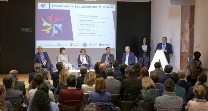 """Los rectores de las universidades públicas valencianas reivindican una financiación universitaria """"adecuada"""""""