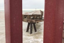 Parte de un pantalán de Sagunt se derrumba por el temporal