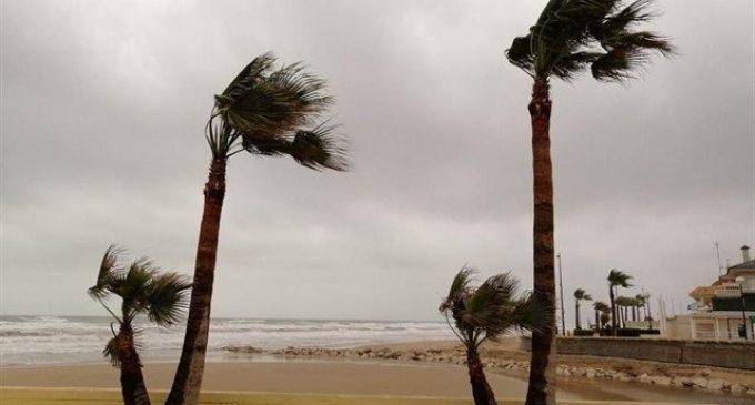 La pluja i ratxes molt fortes de vent marquen el dissabte a la Comunitat Valenciana