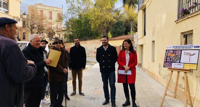 Comienza la peatonalización del entorno del mercado de Sant Pere Nolasc