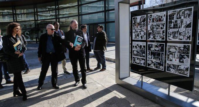 València acull una exposició de carrer que aproxima el mundo i la história del còmic a la ciudadania