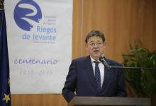 Ximo Puig aboga por establecer un 'gran acuerdo' de carácter estatal para garantizar el agua para la agricultura