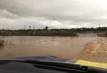 Una fort tempesta d'aigua i granís sorprén Picassent