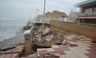 Sueca, El Perelló i Mareny de Barraquetes requereixen al Ministeri perquè inicie els treballs que garantisquen la seguretat en el passeig afectat pel temporal