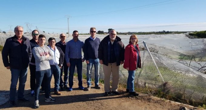 El secretari autonòmic d'Agricultura visita Picassent per conèixer les zones més afectades pel temporal