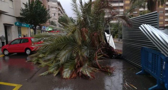 Gandia afronta con todos los efectivos disponibles el temporal de viento y mar