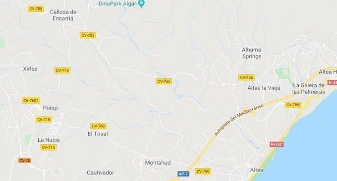 Localitzen el cotxe d'un desaparegut entre Callosa d'en Sarrià i Altea