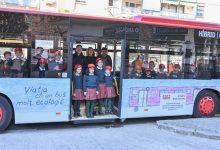 Alumnat de primària dissenya l'exterior d'un autobús de l'EMT