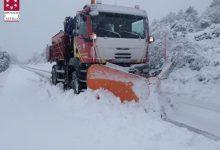 Tres carreteres tallades per neu i 13 amb ús necessari de cadenes en la Comunitat Valenciana