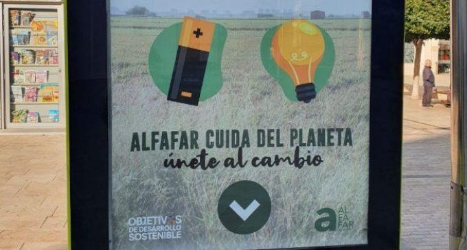 Alfafar instal·la punts de reciclatge per a piles i bombetes