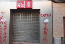 Pintades de 'rates traïdores' a la seu del PSPV de Paterna