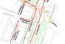 La reordenación de la avenida de Catalunya mejora el itinerario peatonal y garantiza la fluidez del tráfico rodado