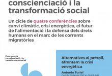 """Quart de Poblet se suma al """"Curs per a la Conscienciació i la Transformació social"""" i acollirà una conferència sobre la crisi energètica"""