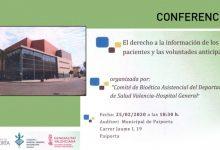 Paiporta acoge una conferencia sobre derecho a la información y voluntades anticipadas