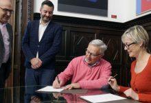 Ribó i Gallén signen el conveni de col·laboració de la capitalitat del disseny