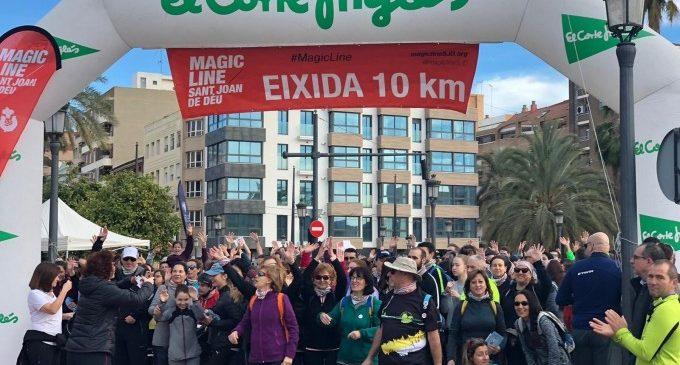 La caminada 'Magic Line València' recapta més de 12.000 euros per a persones en situació de sense llar