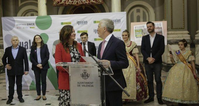 L'Ajuntament acull la presentació dels cupons de l'ONCE per les Falles i el Dia Internacional de la Dona