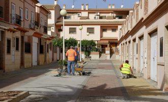 El dilluns començaren les obres de substitució del paviment de l'entorn de la plaça La Pau de Puçol