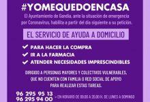 Gandia impulsa amb Creu Roja el programa #YOMEQUEDOENCASA