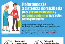 El Ayuntamiento de Quart de Poblet refuerza la asistencia domiciliaria para personas mayores y personas enfermas solas y aisladas