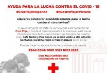 Paterna se suma a la campanya de Creu Roja d'ajuda per la lluita contra la COVID-19
