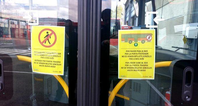 L'EMT elimina el pagament en efectiu per a prevenir el coronavirus