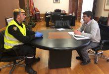 La Unitat Militar d'Emergències es desplaça a Ontinyent per fer tasques de desinfecció d'espais