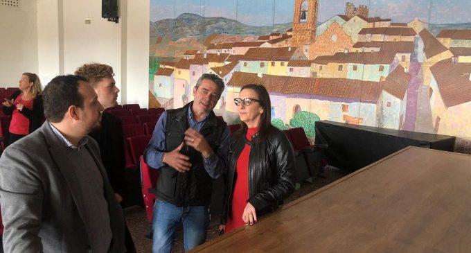 La vicepresidenta Amigó visita les obres de la Diputació a Catadau