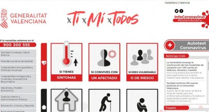 La Generalitat lanza una web sobre el coronavirus con información y recomendaciones dirigidas a la ciudadanía