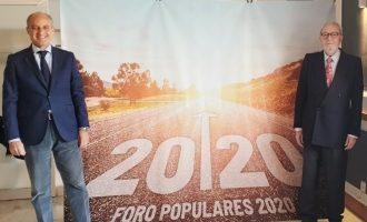 """Camps i Agramunt impulsen 'Fòrum Populars 2020' per a reivindicar """"amb orgull"""" el seu llegat al capdavant de la Comunitat Valenciana"""