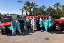 La UME colabora con el Ayuntamiento de Sueca en las labores de limpieza y desinfección del municipio